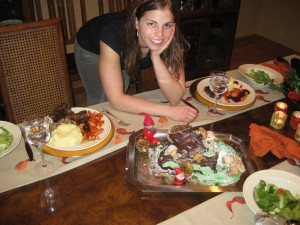 My Buche de Noel at Christmas Dinner