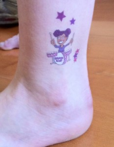 Shining Stars ankle temporary tattoo