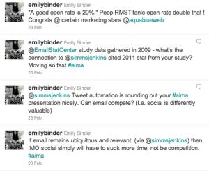 Twitter AiMA Atlanta Email Marketing February 2011 emilybinder