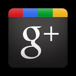 Google Plus square black and color g+ icon