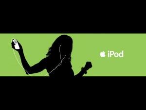 Apple iPod ad dancer green