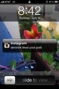 Instagram like push notification iPhone