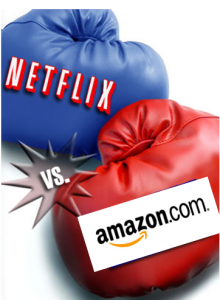 Netflix vs. Amazon punching bags