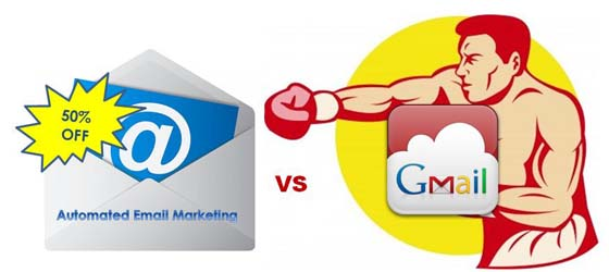 Email marketing vs Gmail inbox punching boxing match