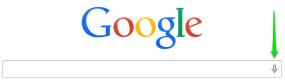 Google Chrome Voice Search searchbar microphone icon