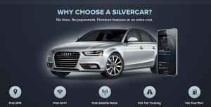Silvercar homepage screenshot