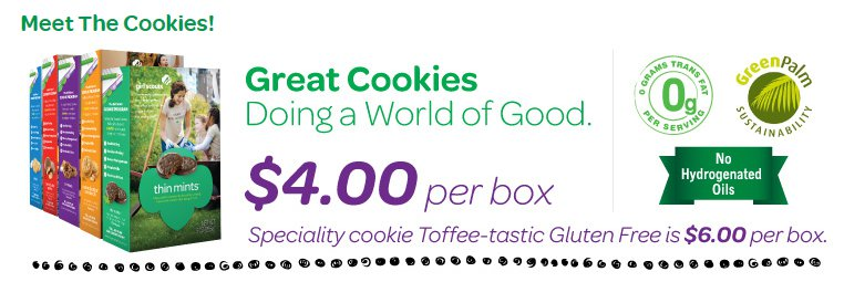 Girl Scout Cookies - no hydrogenated oil claim - Little Brownie Bakers
