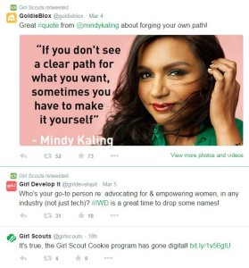 girlscouts tweets - Mindy Kaling quote