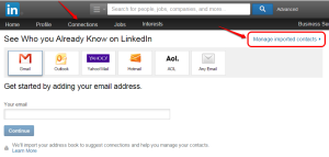 Linkedin how to manage imported contacts