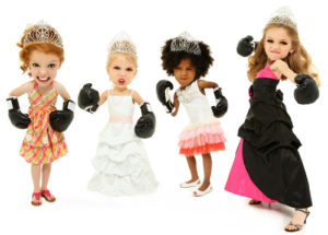 beauty pageant girls wearing boxing gloves