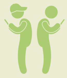 illustrated-people-on-phones-phubbing