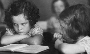 children sulking