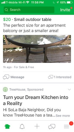Nextdoor sponsored post
