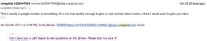 screenshot of rude Craigslist email
