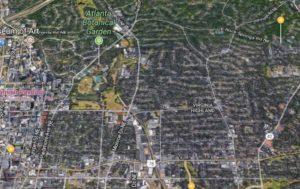 map of Atlanta Midtown