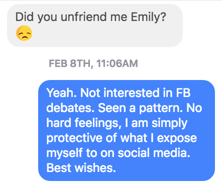 facebook message