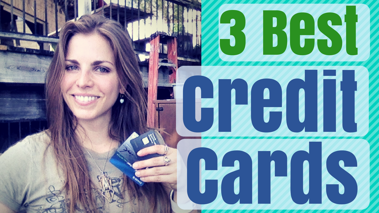 Three best credit cards - Emily holding Chase trifecta