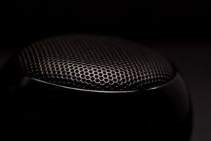 black speaker close up