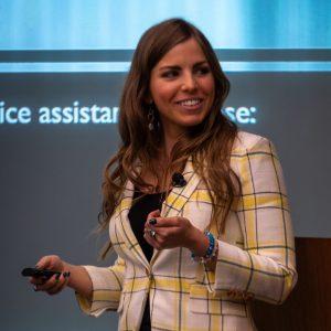 Emily Binder speaking at DFA