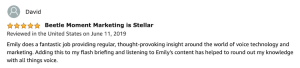 Flash Briefing listener review by David