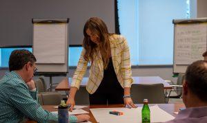 Emily Binder leading DFA financial advisor marketing workshop