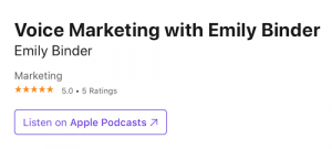 Apple Podcasts five star rating